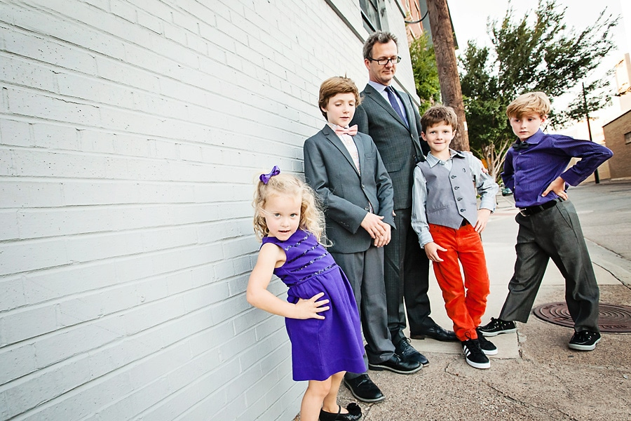 Colorful Holiday Family Portraits