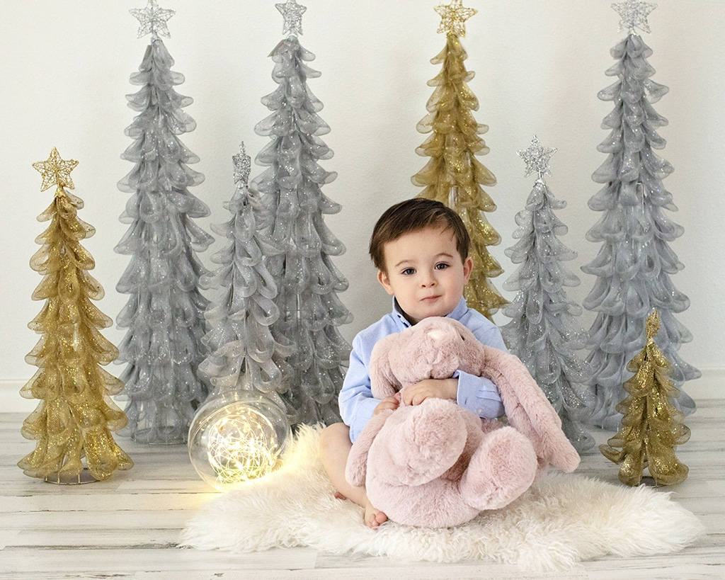 one year birthday session for the cutest little guy in private North Dallas studio