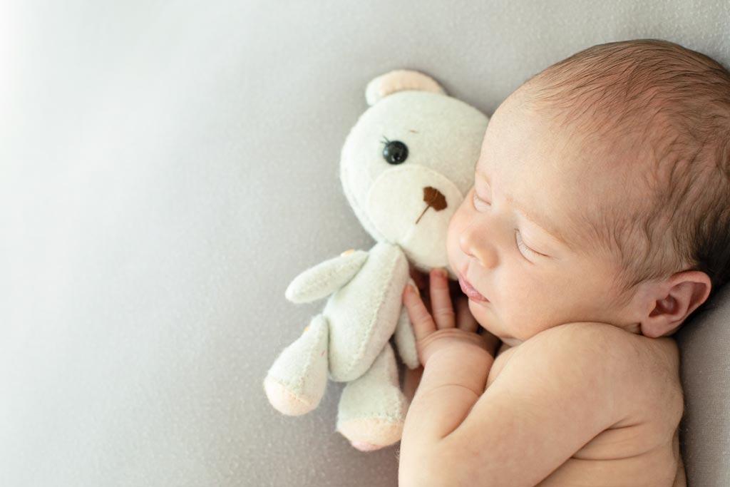 sleepy newborn session in private dallas studio