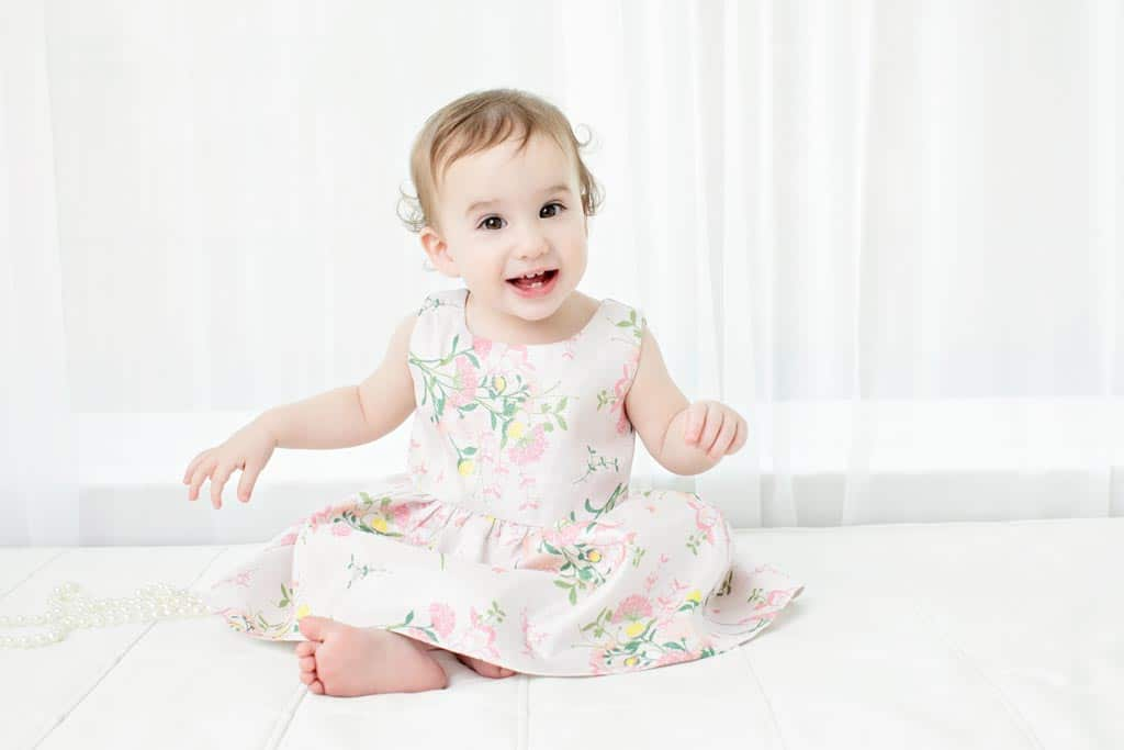 a beautiful first birthday session with little girl and her mom