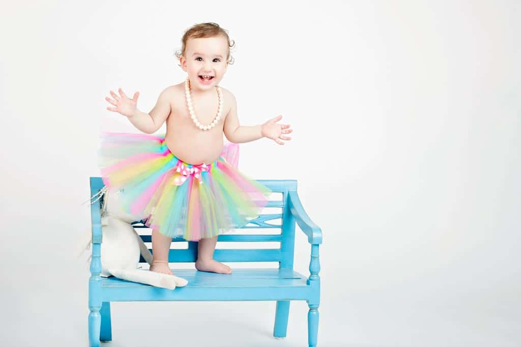 the most adorable first birthday portrait session