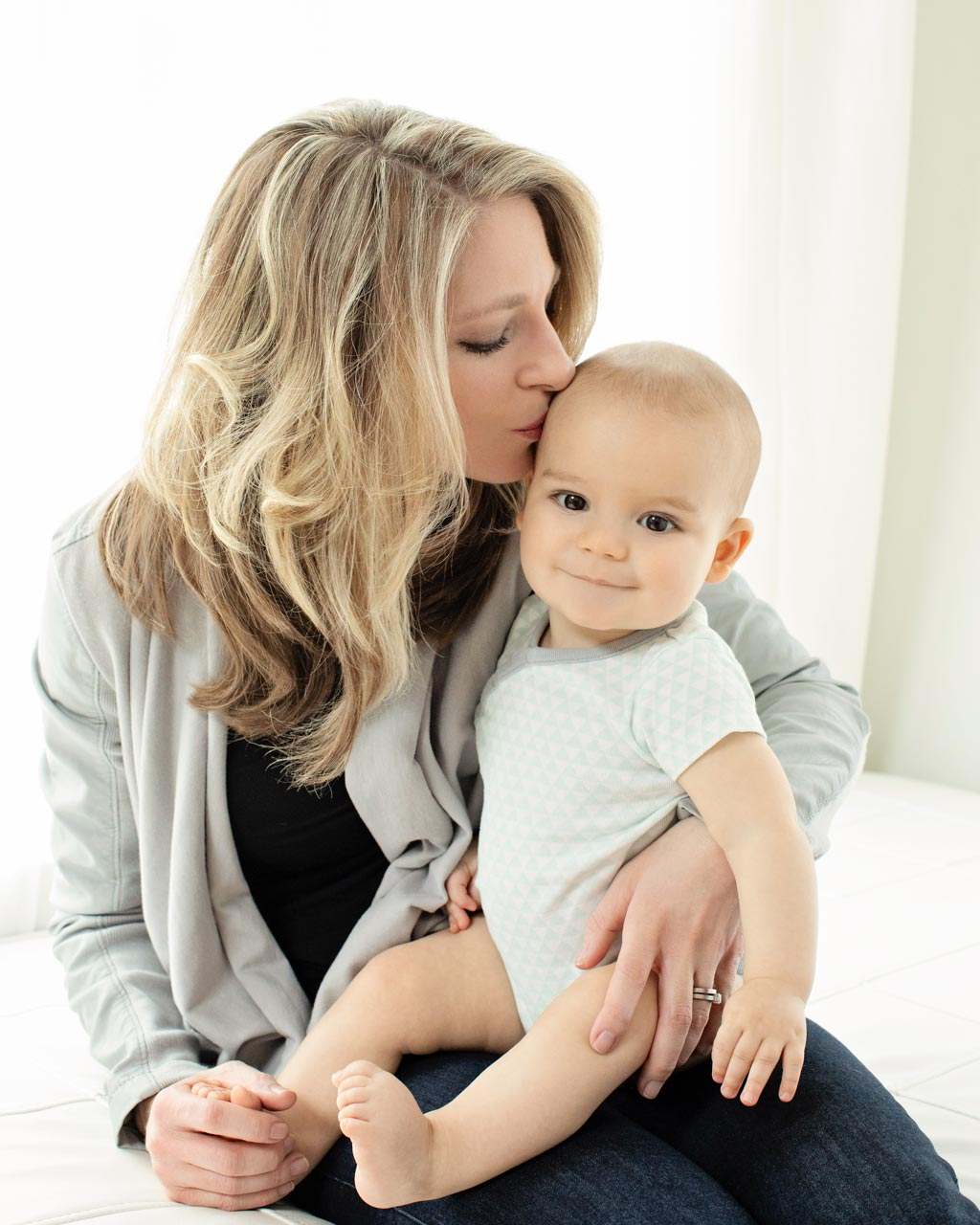 beautiful baby and his mama pose in gorgeous six-month session
