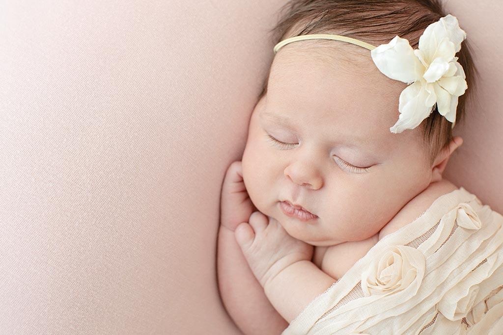 newborn detail shot from private dallas studio