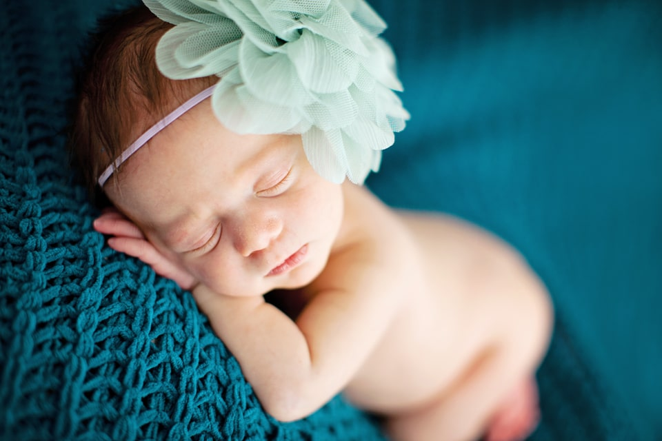 gorgeous studio newborn photography session