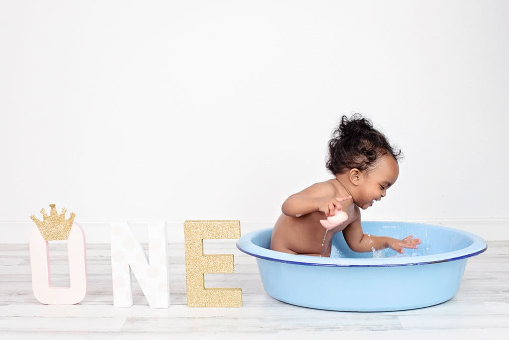 adorable one year old in private session