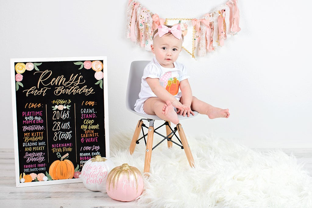 adorable first birthday celebration in private studio session