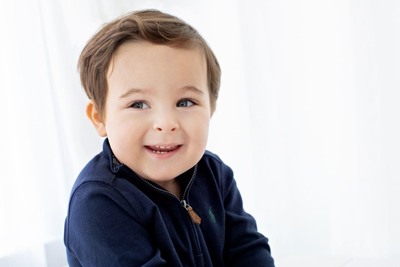 adorable toddler in private studio session