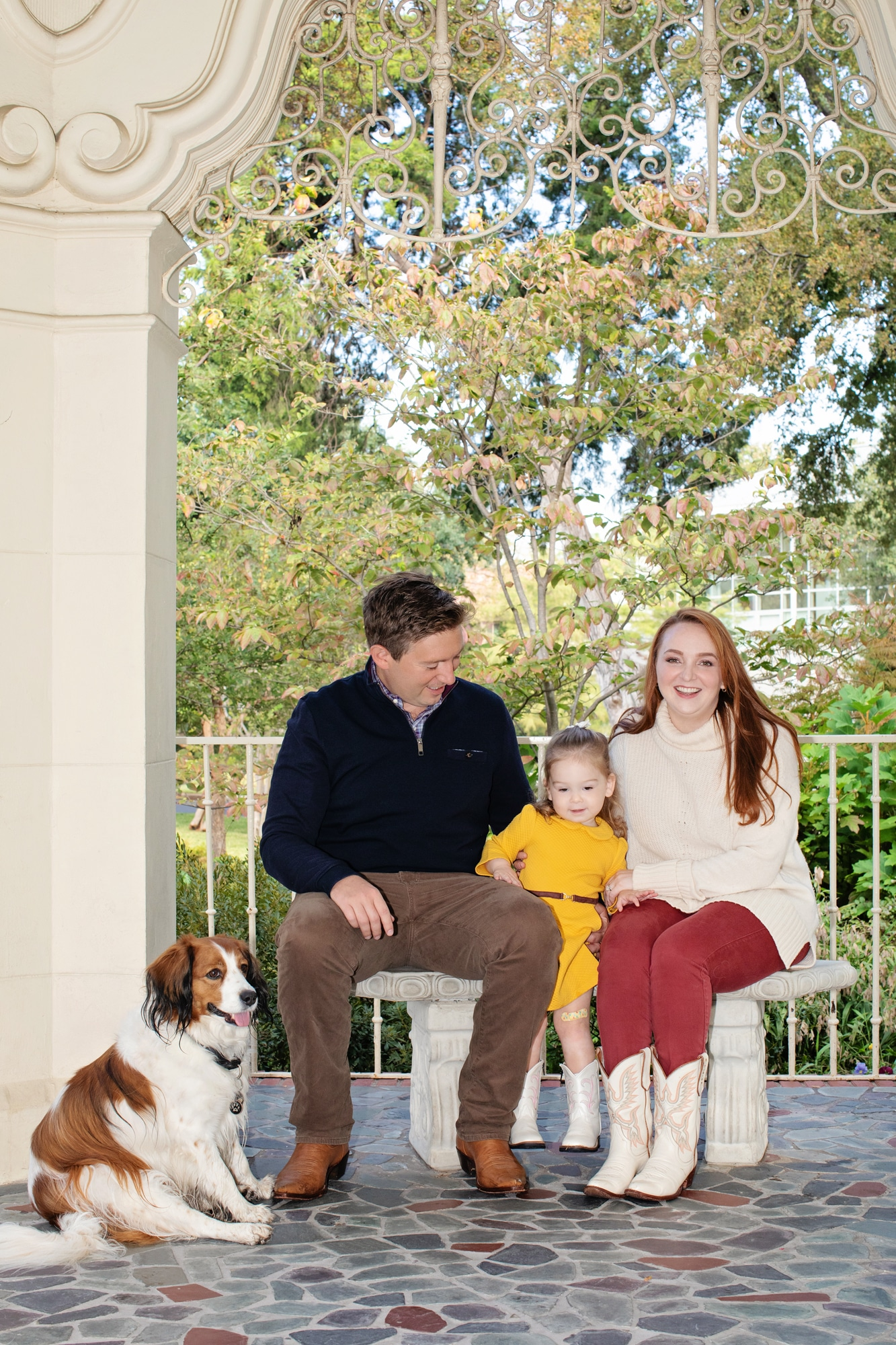 beautiful family session in fairytale location