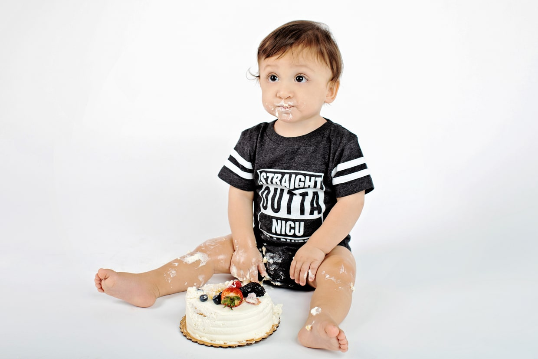 super fun cake smash session to celebrate first birthday