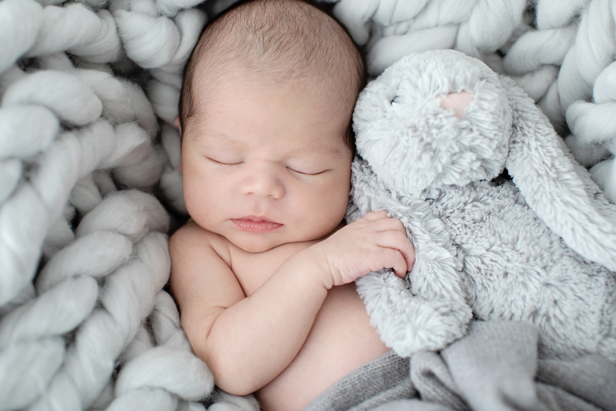 newborn session with boyish pieces throughout