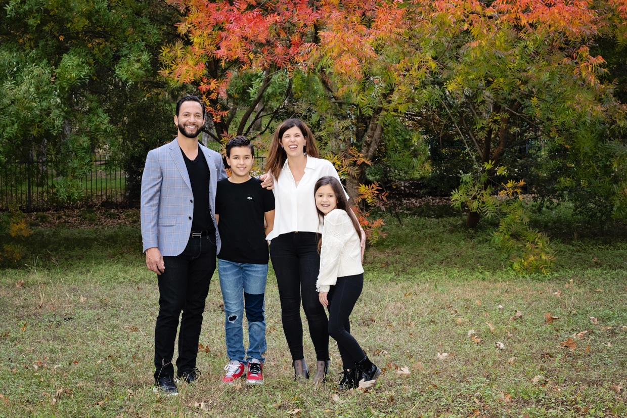 stunning fall family session outside in north Texas