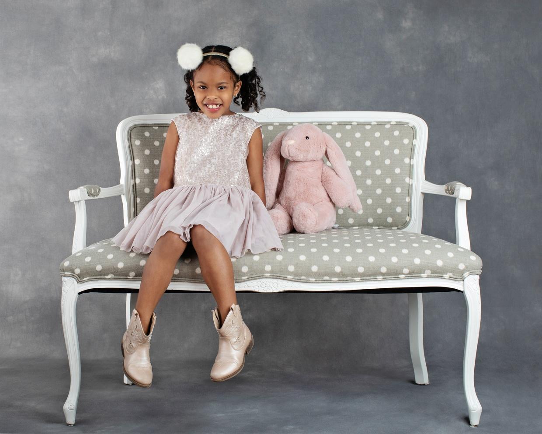 adorable six-year-old in private Dallas studio